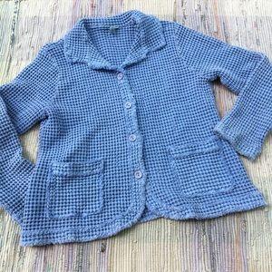Vintage Focus Casual Life Jacket M waffle knit